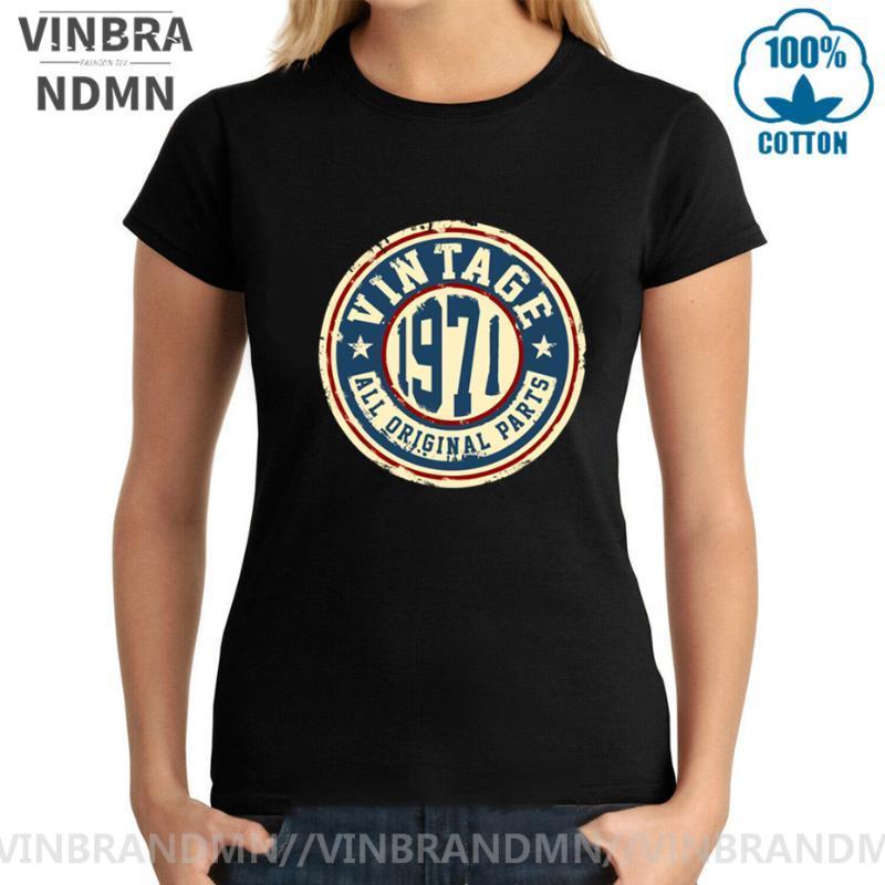 Vintage 1971 camisa de toda la parte original T camiseta del día de cumpleaños de 48 años de edad de la madre camiseta de Acción de Gracias retro clásico 70 Ropa