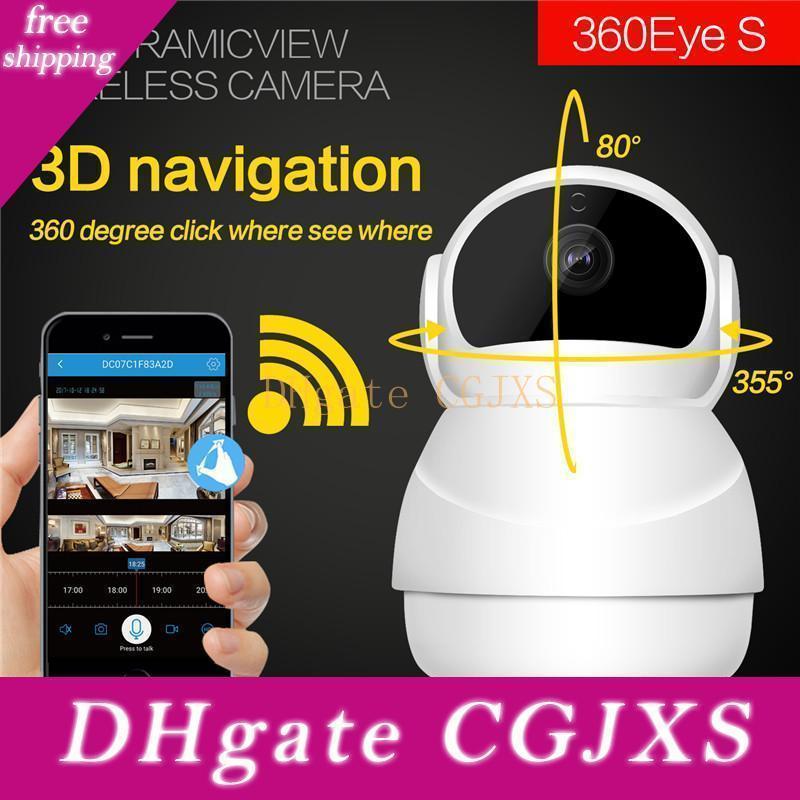 Boneco de neve 3d Navigation Wifi Internet Video Camera 1080p Detecção Night Vision Wireless Camera 2 Way Áudio / Ptz Roatation / Movimento