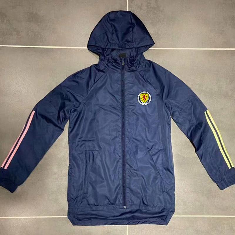 Yeni 2020 İskoçya milli takım erkek futbol kapşonlu ceket rüzgarlık palto tam fermuar futbol Kazak Erkek ceketler kapüşonlu