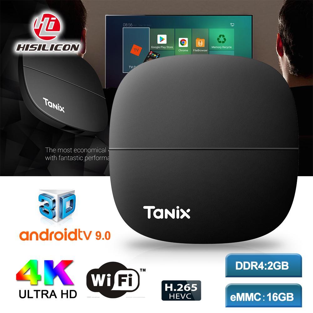 New Arrival Tanix H2 Android 9.0 TV Box 2GB 16GB Hisilicon Hi3798M V110 2.4G Wifi 4K Media Player X96Q T95 H96