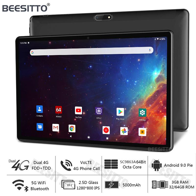 Super Tempered Glass 10 Inch Tablet PC 4G LTE Android 9.0 OS Octa Core 3GB RAM 32/64GB ROM Bluetooth 5G Wifi Type-C USB Tablets