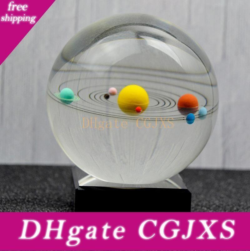 Solar System Crystal Ball Globe Astronomical Celestial 8 Planet Galaxy Crystal Balls Home Decoration