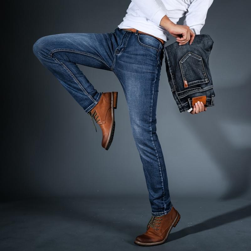 BNYYQ magro Outono calça jeans de algodão e jeansPants e jeansjeans moda casual all-corresponder 8niEB caber nova calças dos homens da forma dos homens heterossexuais