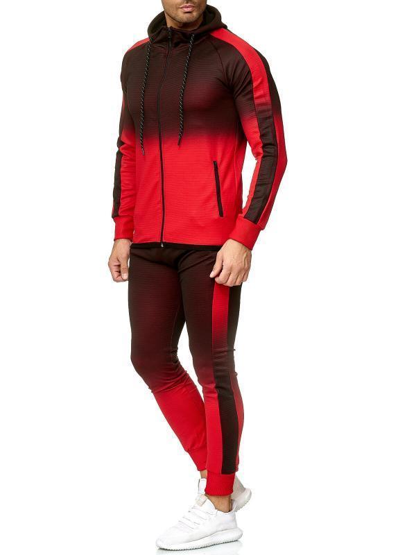 Sonbahar Kış Erkek Eşofman Takımı 2 Parça Set Erkek Gradyan sweatsuits Spor Suit Spor Giyim Erkek Giyim Erkek Setleri Koşu
