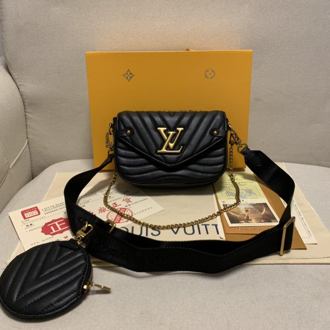 LOU1S VU1TTON M56466 nuova ondata di pelle delle donne delle borse del progettista di torsione borse a tracolla messaggero tasche portafogli Totes Shopping bag cadaveri trasversali