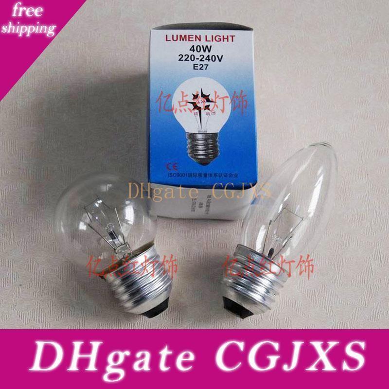 220v E27 Ampoule 25w 40w 60w E27 vis ampoule à incandescence Gradateur Lampe de table Ampoules Ampoules Bubble Bougie Ampoules