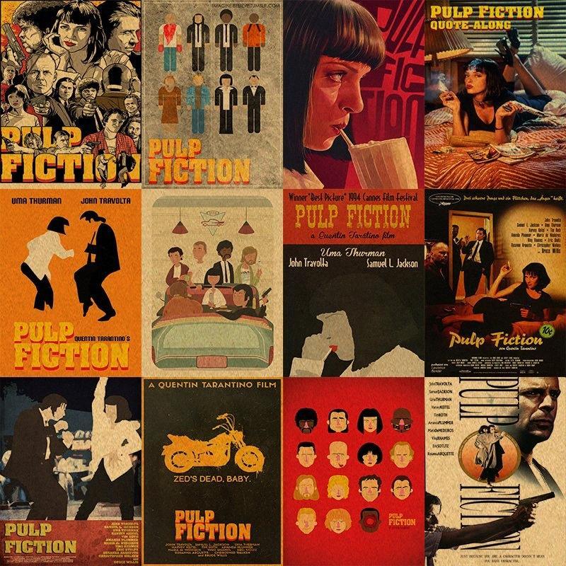 Pulp Fiction Pôsteres Papel retro Anime Poster Vintage Poster Início Etiqueta Decor Quentin Tarantino uute #