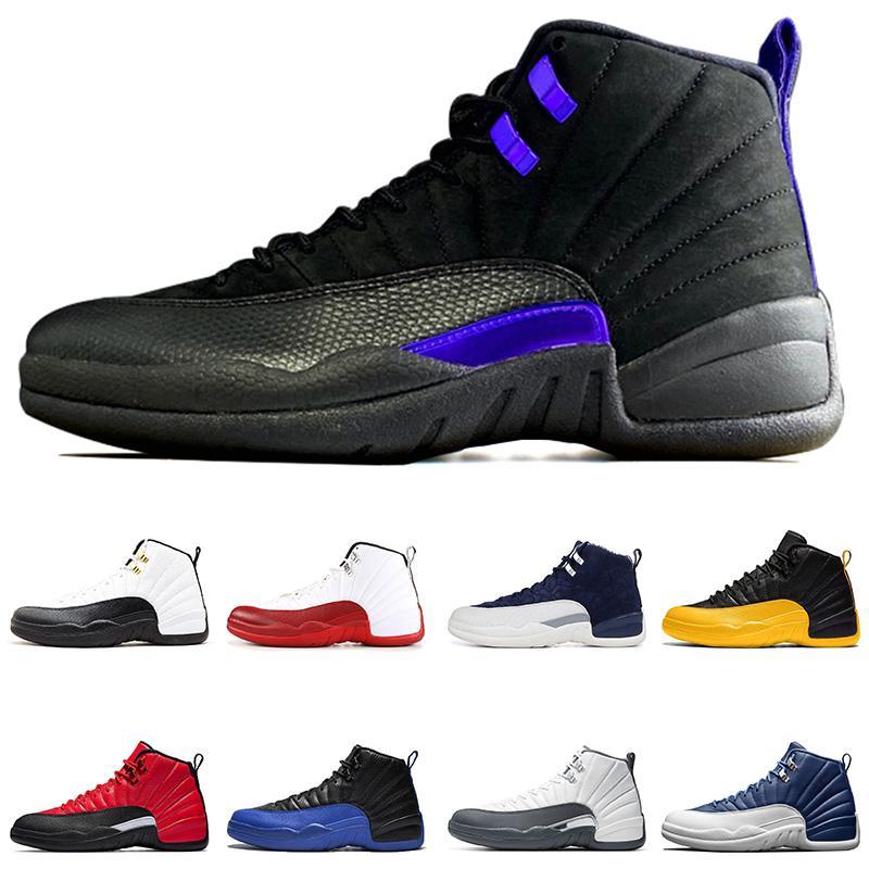 nike air jordan 12 retro 2020 Nueva Jumpman 12 12s zapatos oscuros Concord Juego de baloncesto de la Universidad de taxi inversa Oro Bulls Fiba CNY deportes de los hombres