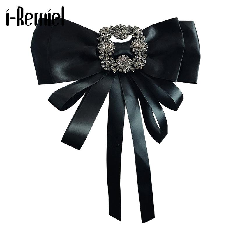 i-Remiel Bowknot Bows Breastpin Women Shirts Pins And Brooches Accessories Casual Blouse Fashion Badge Girls Groomsmen
