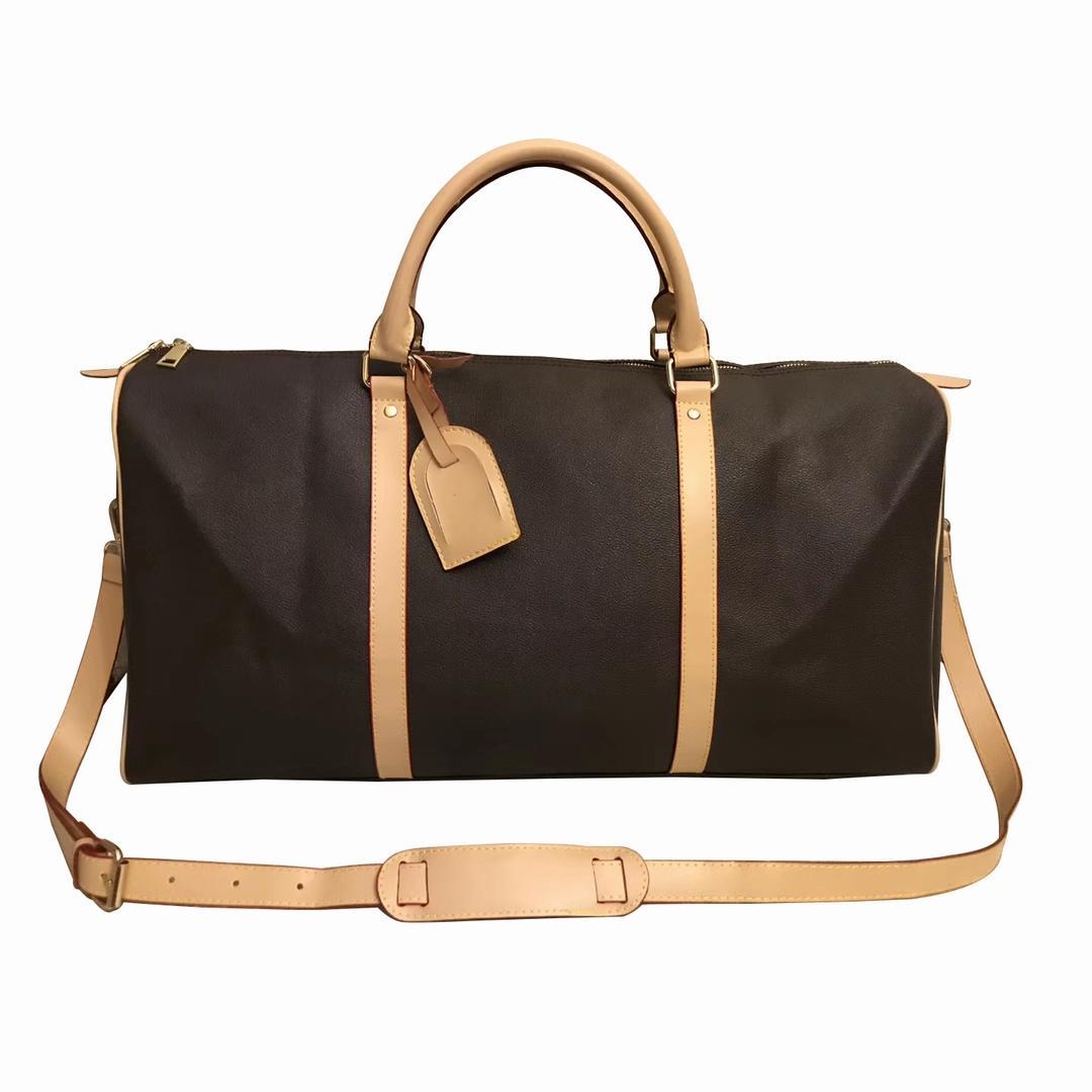 حقائب أعلى جودة جديد رجل واق من المطر حقيبة سفر Women اليد حقيبة سفر الرجال بو حقائب جلدية كبيرة حقائب مستحضرات تجميل CROSSBODY 55CM