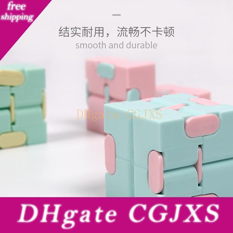 Gleeooy criativa Infinito Cubo Infinito Cubo Liso Virar Magia Fidget Cube Cubo enigma Anti Apaziguador crianças brinquedos adultos