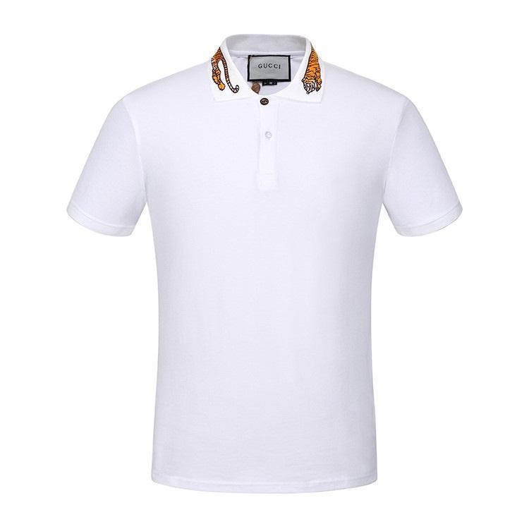 stampa progettista Polo high street cinghia del ricamo giarrettiera h tigre ape degli uomini della camicia di marca di alta qualità abbigliamento in cotone T maschile 20g italiani
