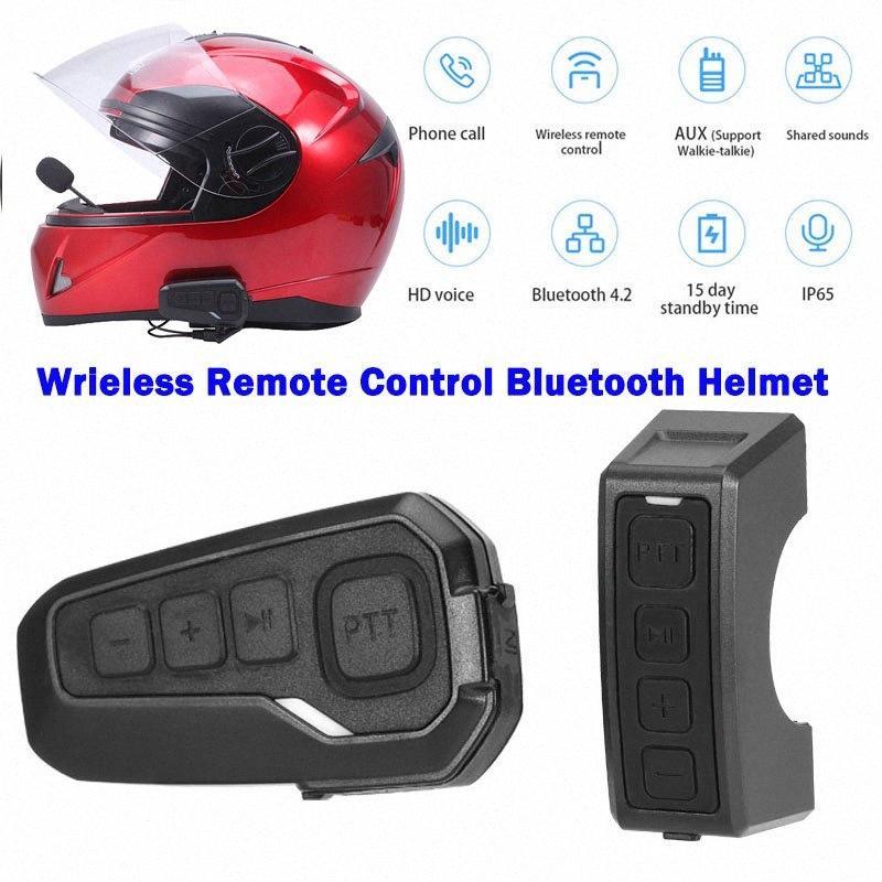 K10B telecomando wireless della motocicletta del motociclo del casco Bluetooth Headset CSR4.1 Chip Intercom walkie-talkie di sostegno HD Voice 0vnr #