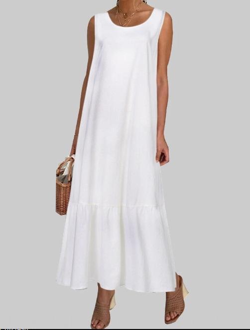 YcBj0 вскользь сплошной цвет оборок подола юбки длинные юбки подола O Ворот длинного платья
