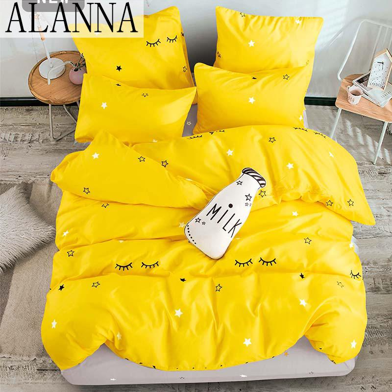Alanna T-ALL Printed Solid bedding sets Home Bedding Set 4-7pcs High Quality Lovely Pattern with Star tree flower T200826