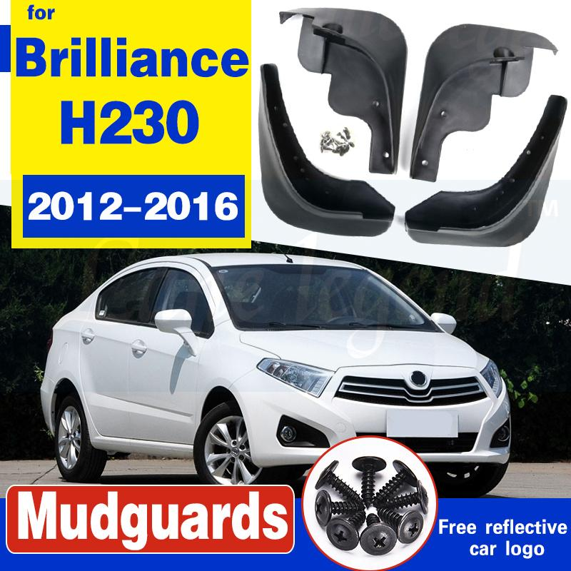 Molded Mud Flaps For brilliance h230 2012-2016 2013 2014 2015 Mudflaps Splash Guards Mud Flap Front Rear Mudguards Fender