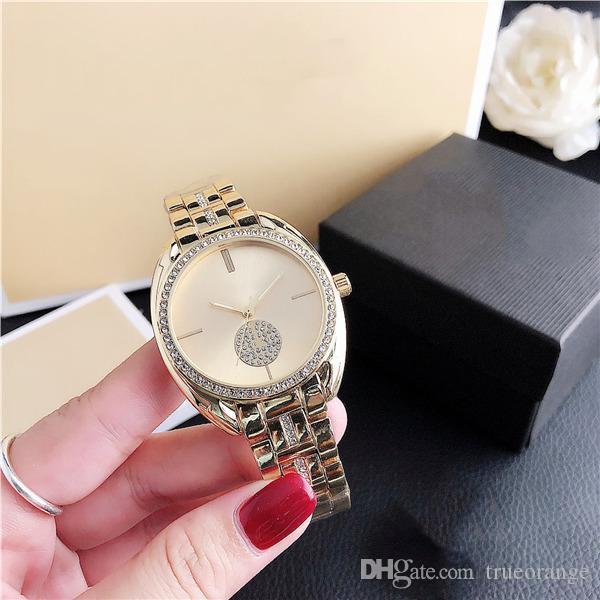 M-7096Y di vendita caldi del diamante Casual Ladies Watch Royal Oak in acciaio del quarzo della fascia M Guardare spedizione gratuita