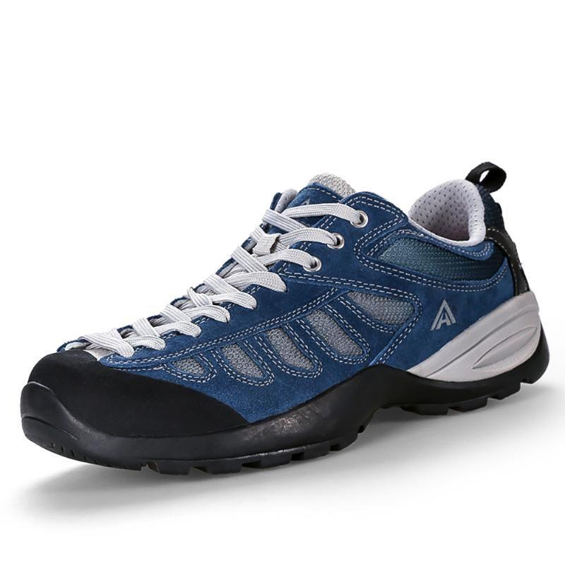 La piel del cuero HUMTTO hombres al aire libre Senderismo Trekking las zapatillas de deporte para los hombres turismo de camping Escalada Zapatos del hombre de montaña