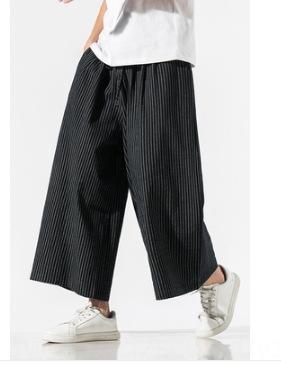 Männer Sommer lässig und ethnische und Baumwolle Baumwolle Leinen Leinen kurze Hülsenklage der ethnische Art große lose Strickjacke Kleidung der Männer gestreift