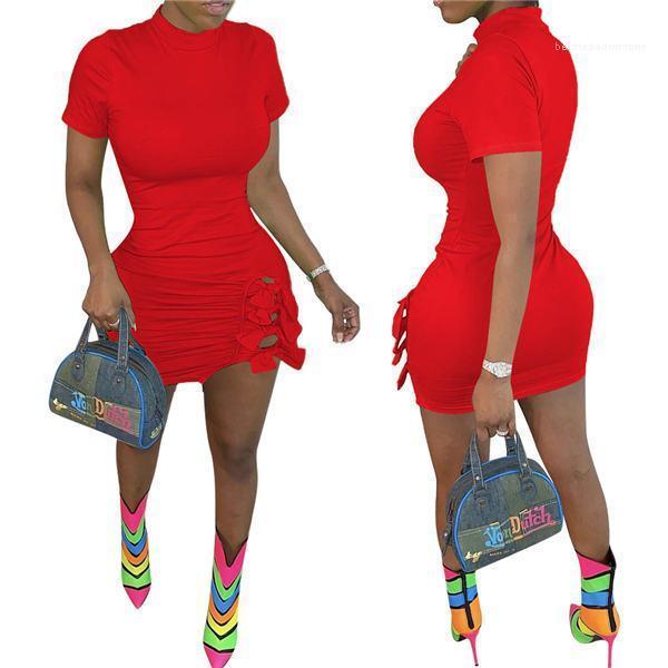 Vestidos bodycon club de las mujeres atractivas de los vestidos del lápiz o cuello Mujeres Vestidos Tamaño más delgado sólido señoras de luz de color