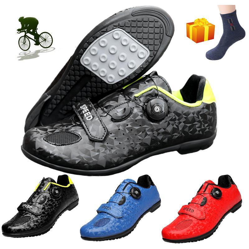 Yeni Bisiklet Ayakkabı Erkek Spor Bisiklet Sneakers Açık Mtb Yarışı Kauçuk Sole Bisiklet Ayakkabı Sapatilha Ciclismo Bisiklet Hombre