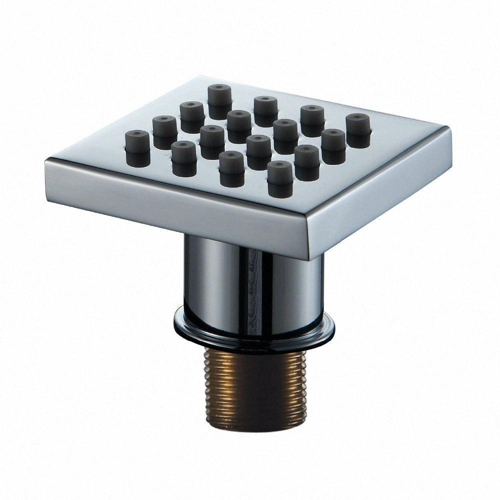 40*40*9mm New Hot Promotion Silicon Square Brass Body Shower Jets Body Sprayer Jets Bathroom SPA Sprayer Nozzle qrHk#