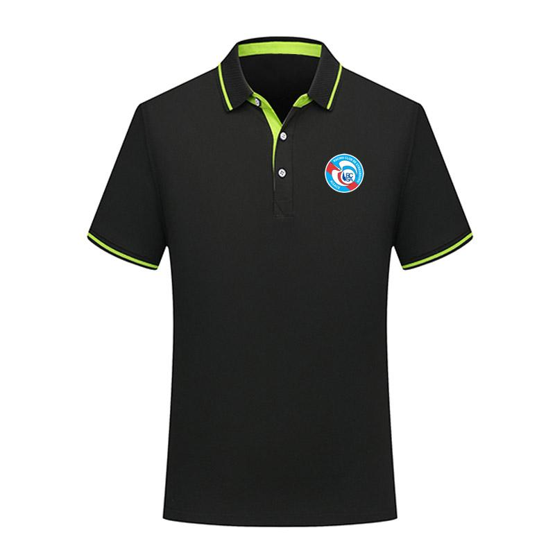 entrenamiento de la manera deporte 2020 hombres RC Strasbourg polo del fútbol camiseta de fútbol de manga corta de los polos de los polos de fútbol del fútbol T-Shir