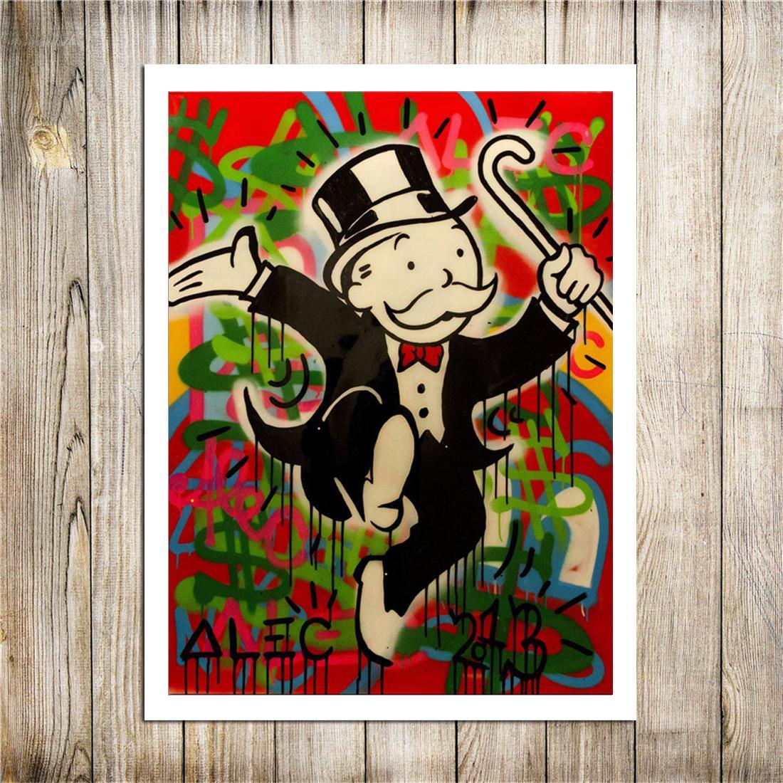Gentleman Alec Monopoly, toile Pièces Accueil Décor Imprimé Art Moderne HD Peinture sur toile (Unframed / encadré)