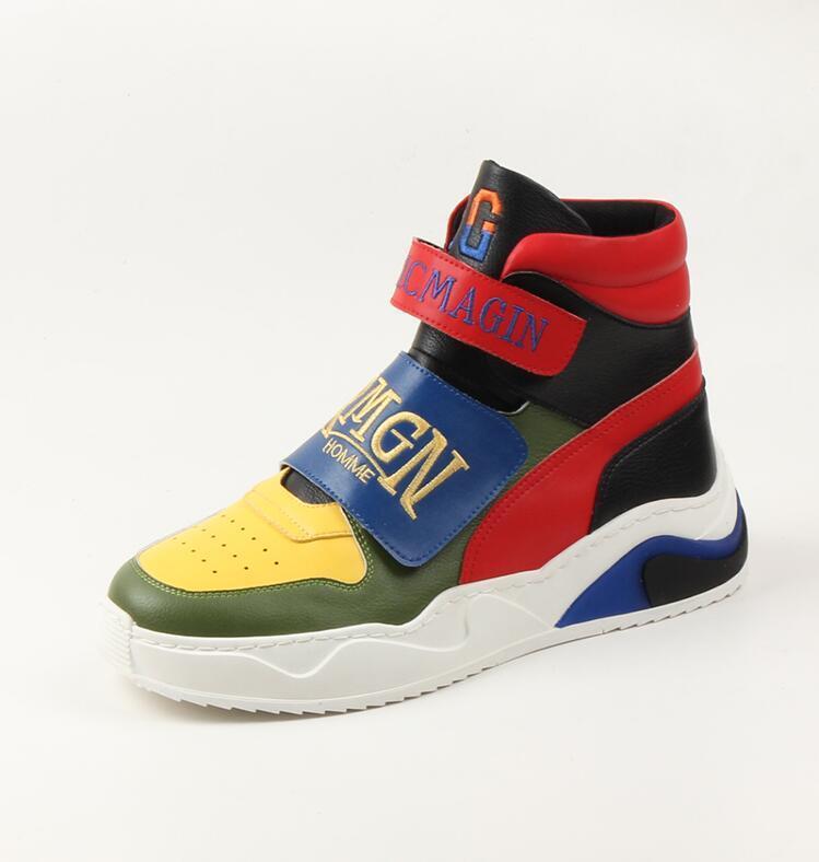 Nova Moda Homens PU Couro Business Casual Sapatos Homem ao ar livre respirável tênis masculino da forma Loafers Andando Calçado I269