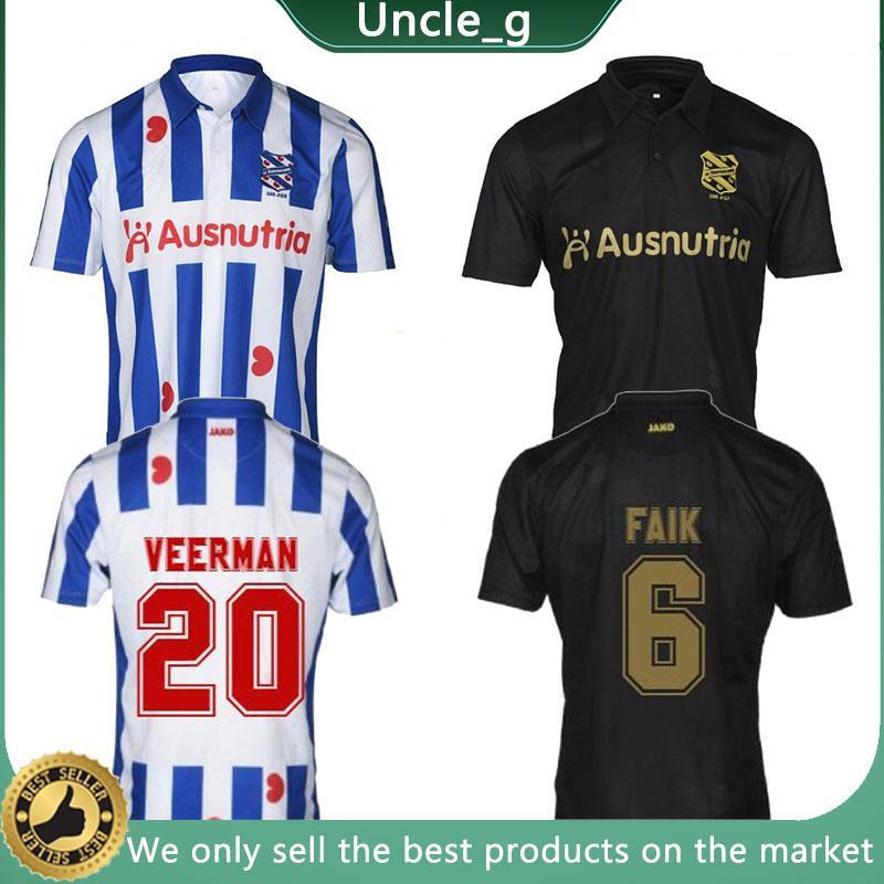 2020 2021 Heerenveen 20-21 6 Faik 8 Ejuke 11 Van Bergen Thai Qualität Sport Trikots 14 Dresvic 20 Veverman Home Away Uniformen Neu
