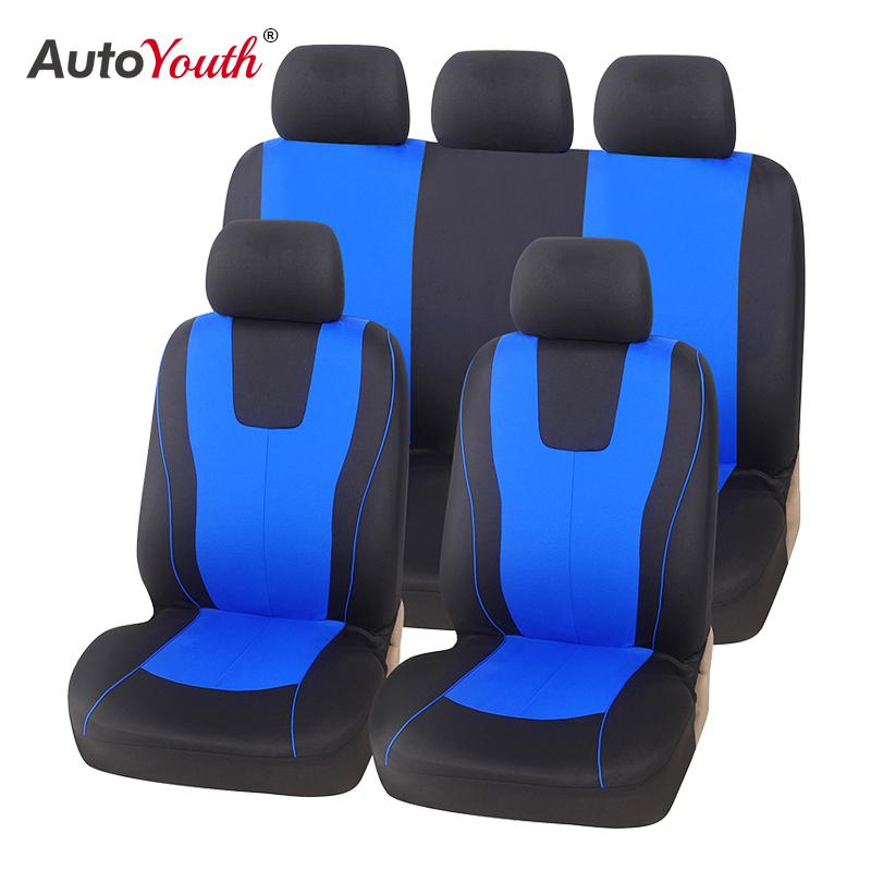 New 2020 Universal Blue Car Seat Cover Polyester Fabric Protect Seat Covers