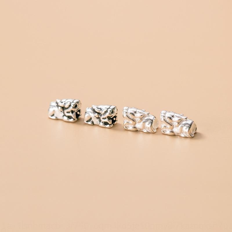 GZ4Xs 925 prata tailandesa straight-through corda buraco trançado *** espaçador DIY tecidos contas pulseira corda solta pérolas artesanais DIY acessórios S0848