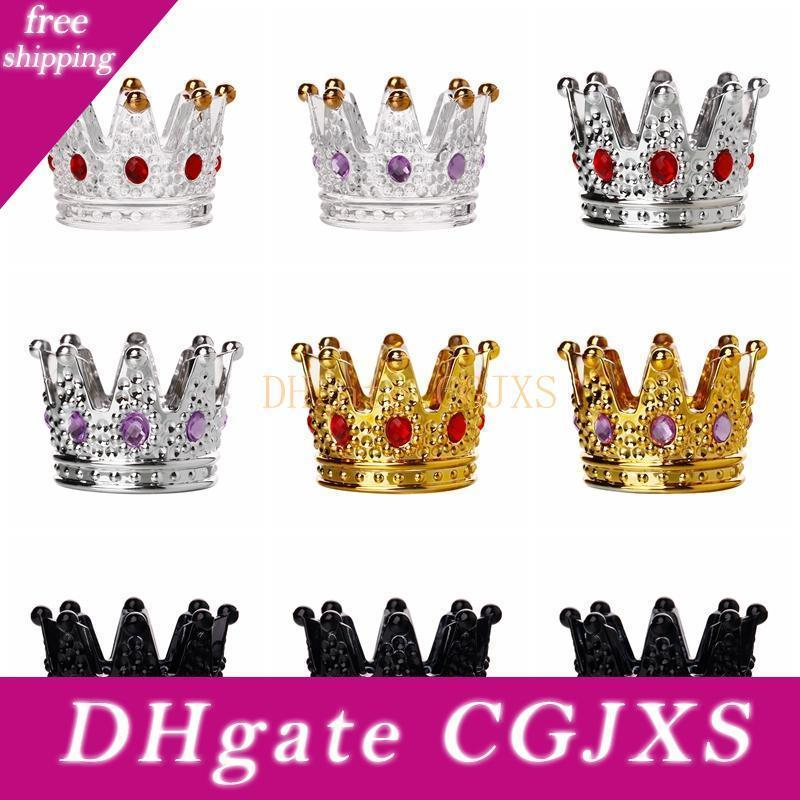 Crystal Glass Crown Candle Holder Creative Desktop Clear Candle Holders For Table Wedding Home Office Decoration