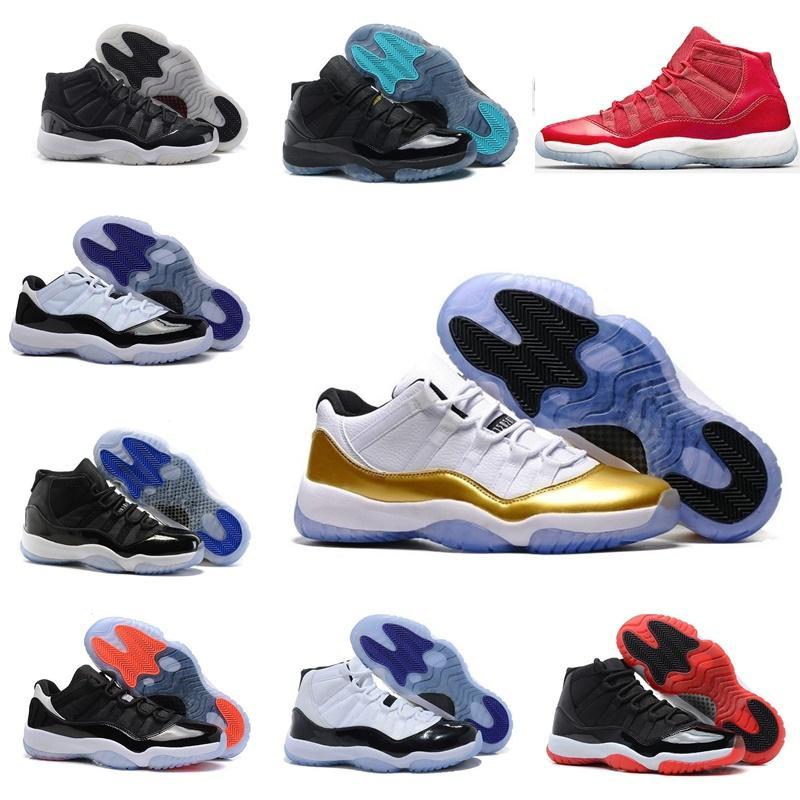 2020 Высокое качество 11 Мужские Баскетбольные Обувь Черные Белые Мужские Женщины Кроссовки Спортивные тренажеры размером 36-47 Бесплатная доставка