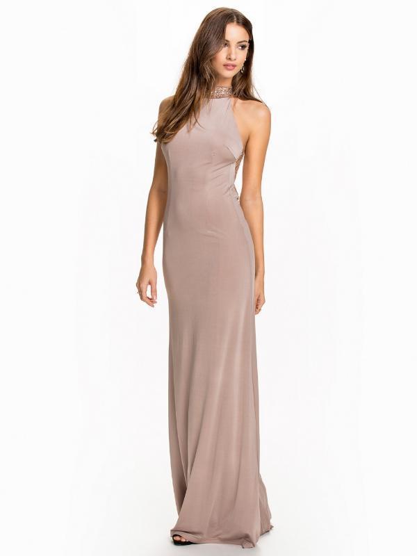 vestido de la manera atractiva de la marea vestido de lentejuelas de nuevo empalme sexy sin respaldo