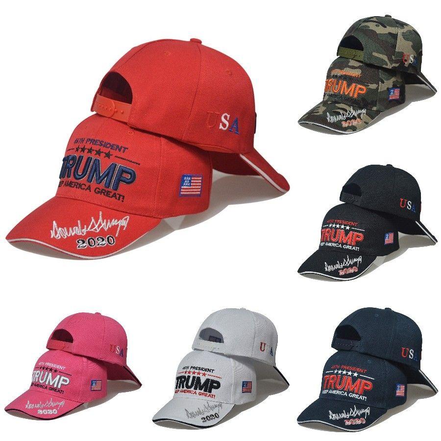 Donald Trump Berretto da baseball stampati 2020 Keep America Grandi Trump Cappelli lavati regolabile Estate Outdoor Trucker cappelli DDA476