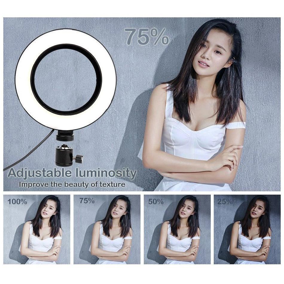 Stokta Dim LED Studio Kamera Halka Işık Fotoğraf Telefonu Video Işık Halka Şekilli Lamba Tripodlar ile Selfie Sopa Yüzük Dolgu Işık