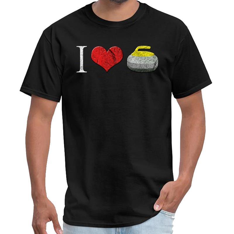 Vintage I Love Curling Lockenwickler Geschenk satan T-Shirt homme travis T-Shirt 3xl 4xl 5xl 6XL Slogan