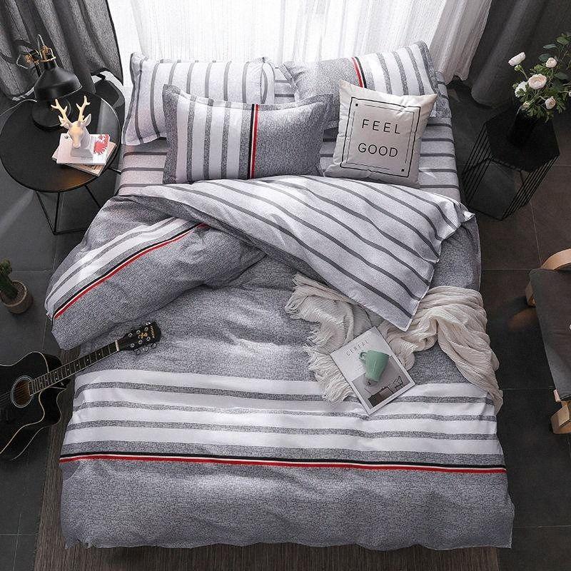 King-Size-Luxus-Bettwäsche-Sets 4pcs Zeichen Muster Bettwäsche Bett Auskleidungen Bettbezug Bettlaken Kissen- Bezug-Set WhJC #