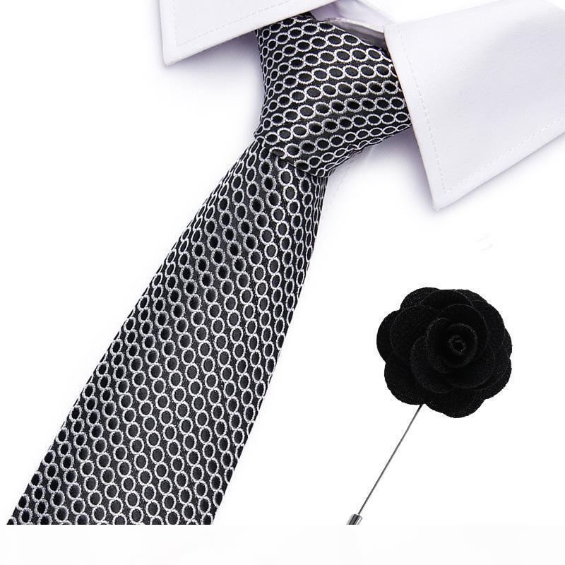Kravat Erkekler Çizgili Mavi Resmi elbise Düğün Bağları Jakar Dokuma% 100 İpek Erkekler İş Boyun Bağları Aksesuar Erkekler