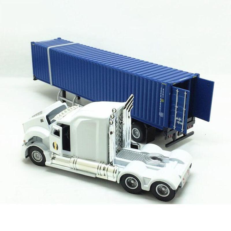 1/43 alaşımlı metal 31.5CM Amerikan tru römork konteyner simülasyon modeli mühendisliği araç oyuncak ekran kalıp döküm