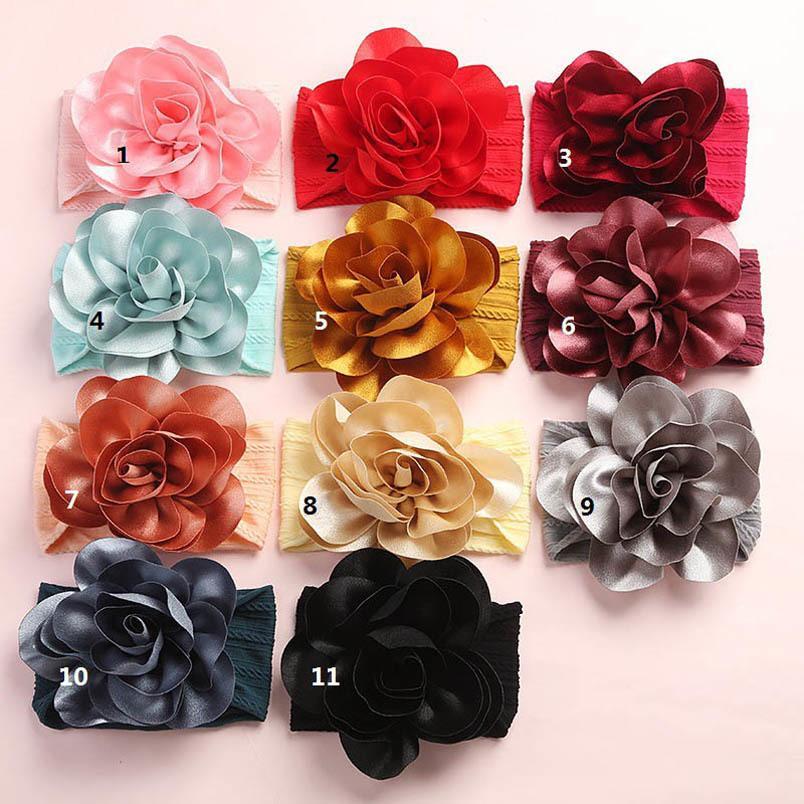 las vendas del bebé venta de flores calientes de nylon suave bandas para la cabeza de diseño niñas recién nacido bandas para la cabeza de diseñador diseñador de accesorios para el cabello B1636