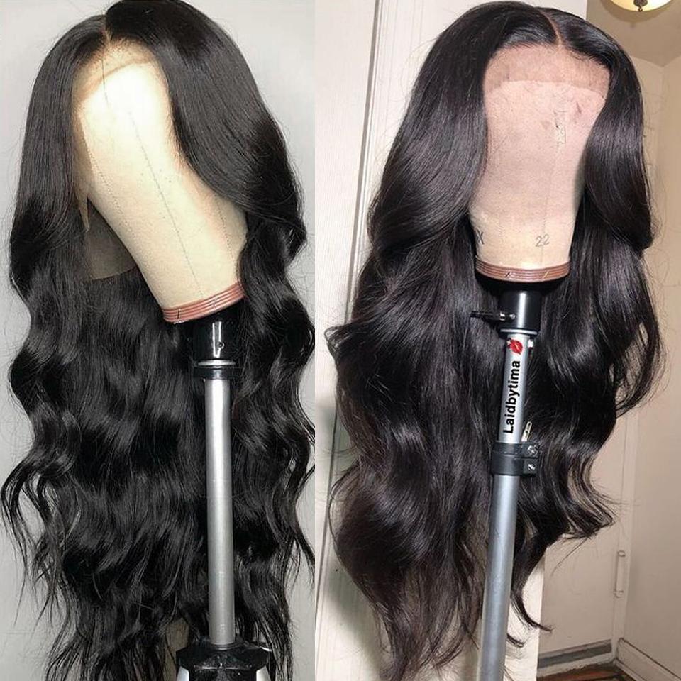2020 merletto pieno falso cuoio capelluto parrucche brasiliano onda del corpo di piena del merletto dei capelli umani parrucca per donne di colore dei capelli Pre pizzico linea sottile morbida parte libera