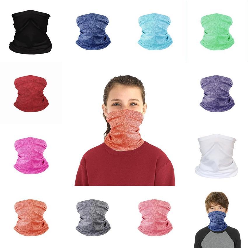 Kinder Gesichtsmaske Kinder Schutzmaske Outdoor Radfahren Magie Schal Stirnband Bandanas Turban Fitness Supplies Reiten Gesichtsmasken CYZ2652 GWLD