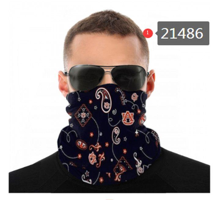 NCAA Auburn Tigers Seamless Hals Gamasche Schild Schal Bandana Gesichtsmasken UV-Schutz für Motorrad Radfahren Reiten oder Fahren Rennen Stirnband 0125