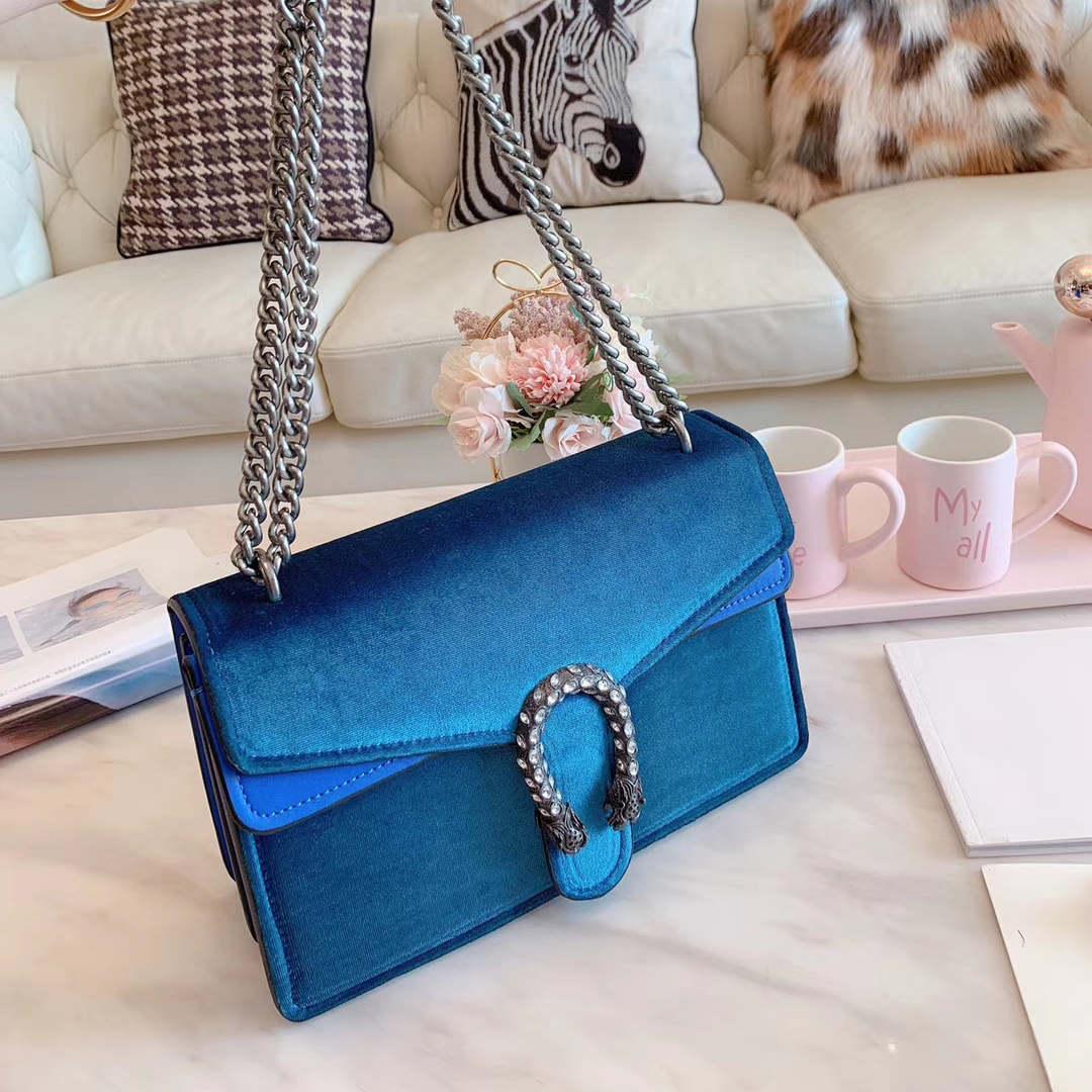 Lady Womens Designer Ombro Bolsa de Ombro de luxo saco de veludo Marca Corpo Cruz 5 cores B100744Z elegante