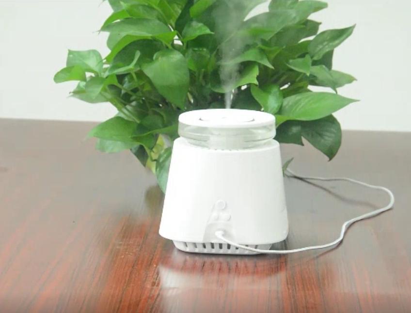 Mini nemlendirici negatif iyon hava temizleyici hava arıtma ve nemlendirme 2 1, iki nemlendirme modu, gece lambası fonksiyonu