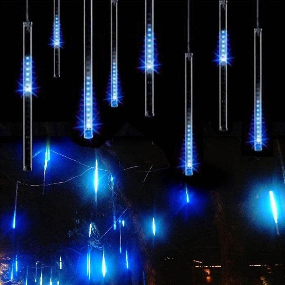 Falling Rain Meteor chuveiro Luzes Luzes de Natal 50cm 10 Tubo de queda da gota da chuva sincelo Luzes Cordas para árvores de Natal do casamento do feriado