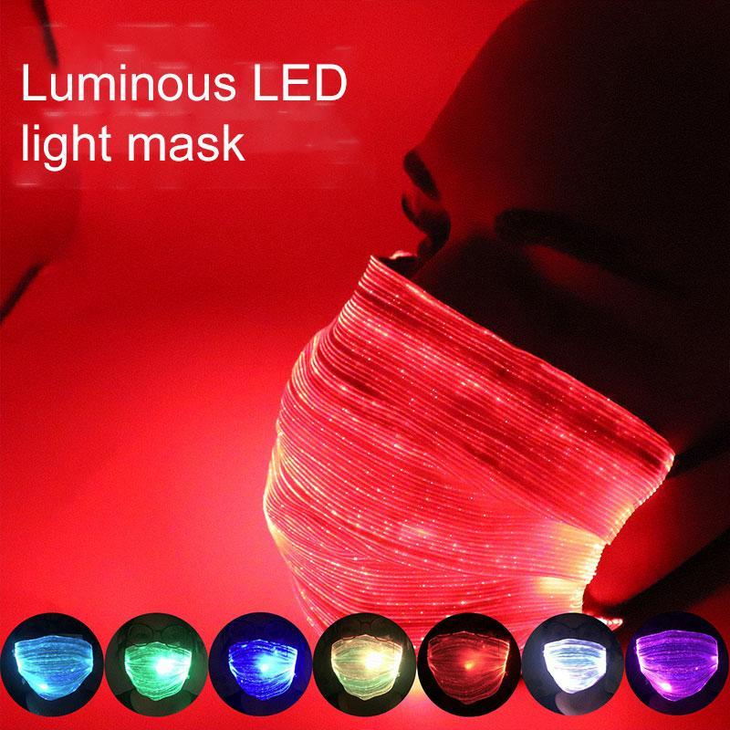 Красочный светодиодные светящиеся лица маски USB зарядный ночной бар маска партии РМ2,5 защитная маска Dropshipping F0801