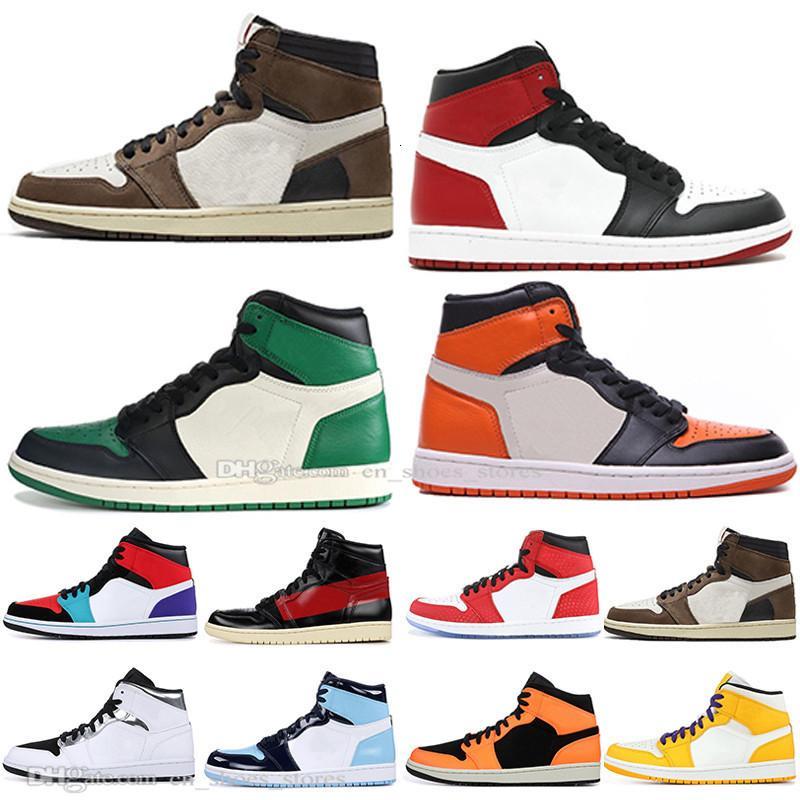 Mit Box 1 High OG Travis Scotts Spiderman Gebannt Top 3 Männer Frauen-Basketball-Schuhe Blue Boys Männer Sport Designer Sneakers Bred